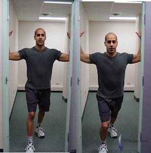 تمارين إستطالة لعضلات الصدر