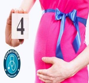 شكل الجنين في الشهر الرابع