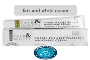fair and white cream
